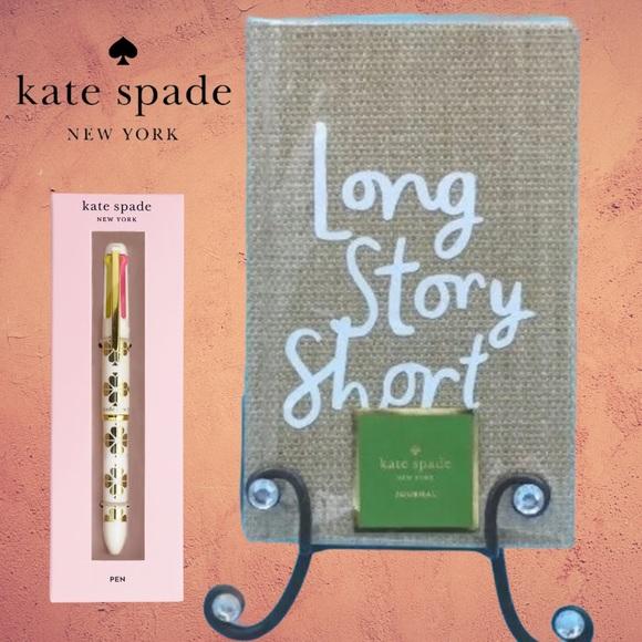 🆕 ♠️Kate Spade Journal & Pen ✒️ 💕 Set